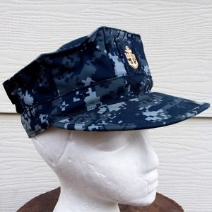 US Navy Utility Working Hat Gold Embroidered 7 1/4